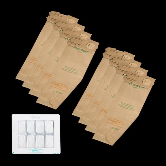Kobold FP118-122 Filtertüten und Dovina Duftchips (je 8 Stk.)