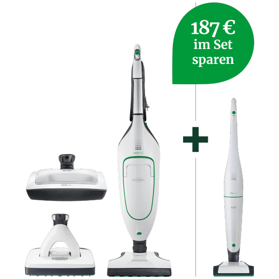 VB100 Akku-Staubsauger & VK200 Handstaubsauger Hygiene-Set