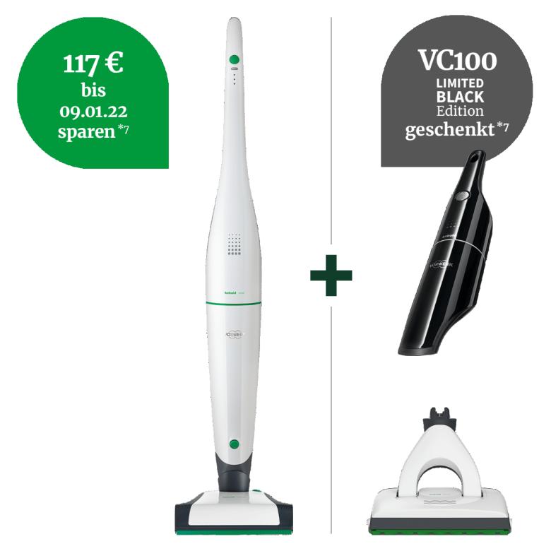 VB100 Akku-Staubsauger Rundum sauberhaft Paket plus